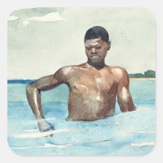 水浴者1899年 スクエアシール