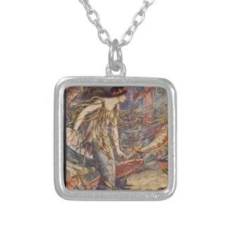 水海の天使 シルバープレートネックレス