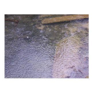 水溜の雨滴 ポストカード