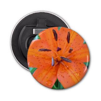 水滴を持つオレンジユリ 栓抜き