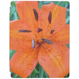 水滴を持つオレンジユリ iPadスマートカバー