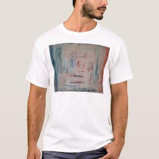水漆喰を塗られる Tシャツ