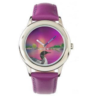 水潜り鳥およびNorthern Lights 腕時計
