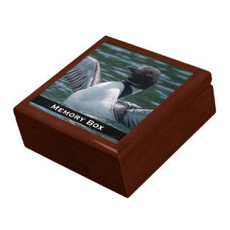 水潜り鳥のクローズアップのタイル箱 ギフトボックス