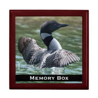 水潜り鳥のタイル箱 ギフトボックス