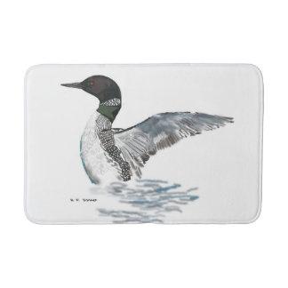 水潜り鳥を曲げること バスマット