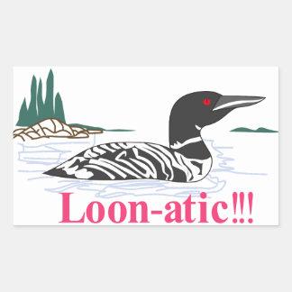 水潜り鳥atic 長方形シール