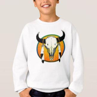 水牛のスカル スウェットシャツ