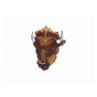 水牛の頭部 ポストカード