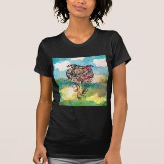 水犬の入れ墨 Tシャツ