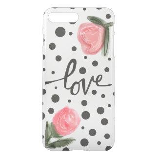 水玉模様およびバラ iPhone 8 PLUS/7 PLUS ケース