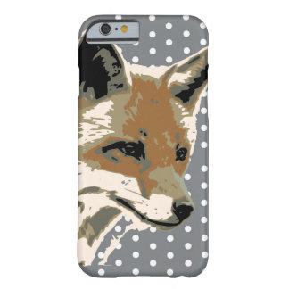 水玉模様のキツネの顔のIPhone6ケース Barely There iPhone 6 ケース