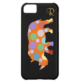 水玉模様のサイ動物 iPhone5Cケース