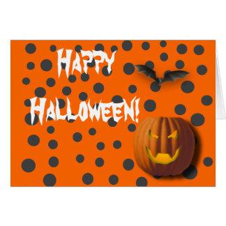 水玉模様のハロウィンの挨拶状 カード