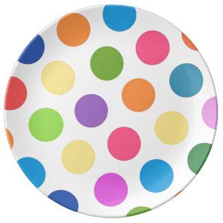水玉模様のパーティ第1 磁器プレート