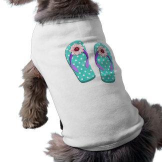 水玉模様のビーチサンダル ペット服