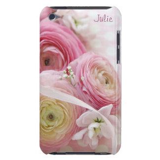 水玉模様のピンクのranunculus Case-Mate iPod touch ケース