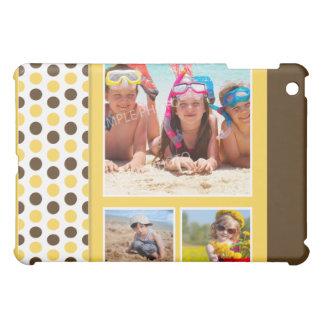 水玉模様の写真のコラージュのカスタム(黄色) iPad MINIケース
