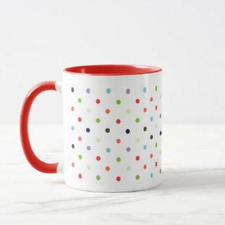 水玉模様の多彩なパーティーの紙吹雪 マグカップ