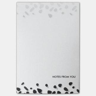 水玉模様の小石パターン白黒の抽象芸術 ポストイット