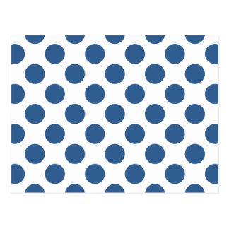 水玉模様の明るいコバルト ポストカード