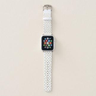 水玉模様の模造のな金ゴールドのグリッターのAppleの時計バンド Apple Watchバンド