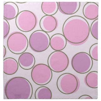 水玉模様の紫色のピンクのナプキン ナプキンクロス