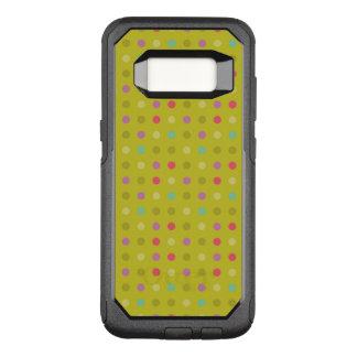 水玉模様の背景パターン オッターボックスコミューターSamsung GALAXY S8 ケース