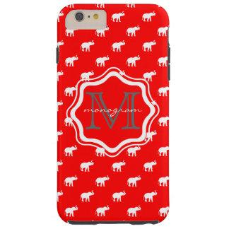 水玉模様の赤い象 シェル iPhone 6 ケース