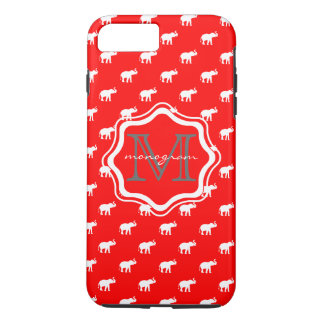 水玉模様の赤い象 iPhone 7 PLUSケース