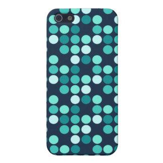 水玉模様の青 iPhone 5 CASE