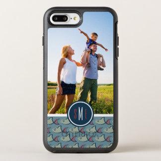 水玉模様の魚パターン|あなたの写真及びモノグラム オッターボックスシンメトリーiPhone 8 PLUS/7 PLUSケース