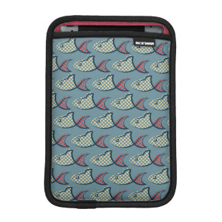 水玉模様の魚パターン iPad MINIスリーブ