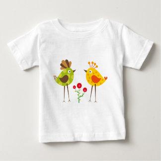 水玉模様の鳥2 ベビーTシャツ