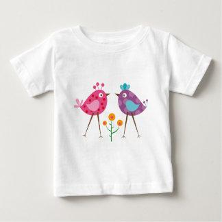 水玉模様の鳥3 ベビーTシャツ