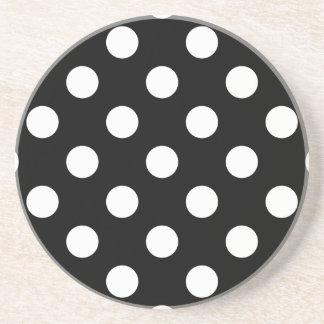 水玉模様の黒 コースター