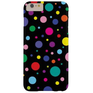 水玉模様の カスタマイズ背景色 BARELY THERE iPhone 6 PLUS ケース