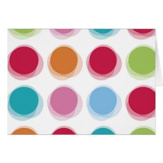 水玉模様のBathタオルパターン カード