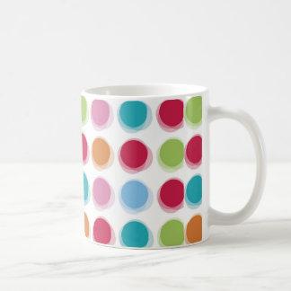 水玉模様のBathタオルパターン コーヒーマグカップ