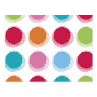 水玉模様のBathタオルパターン ポストカード
