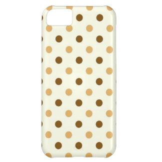 水玉模様のiPhone 5の場合 iPhone5Cケース