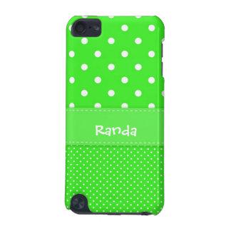 水玉模様のiPod緑および白い5gの箱 iPod Touch 5G ケース