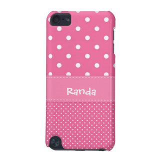 水玉模様のipod touchピンクおよび白い5gの箱 iPod touch 5G ケース