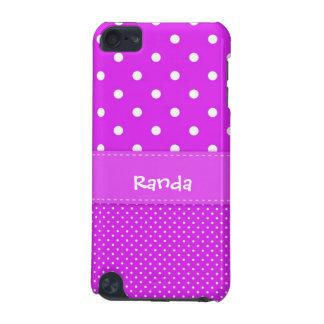 水玉模様のipod touch紫色の5gの箱 iPod touch 5G ケース