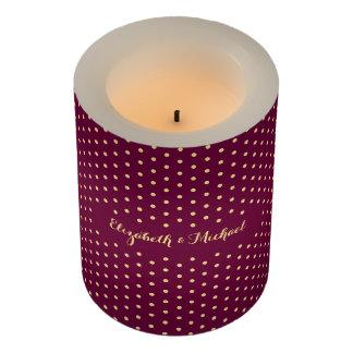 水玉模様は一流の結婚記念日の蝋燭をつなぎます LEDキャンドル