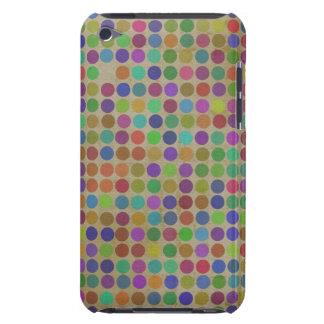 水玉模様パターンファッションのヴィンテージのレトロ色 Case-Mate iPod TOUCH ケース