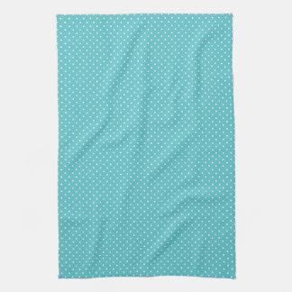 水玉模様ピンはガーリーでシックで青いパターンに点を打ちます キッチンタオル