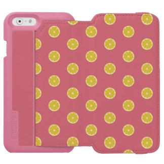 水玉模様新しいレモン箱 INCIPIO WATSON™ iPhone 6 財布ケース