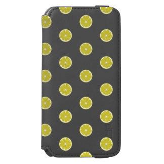 水玉模様新しいレモン箱 iPhone 6/6Sウォレットケース