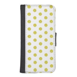 水玉模様新しいレモン箱 iPhoneSE/5/5sウォレットケース